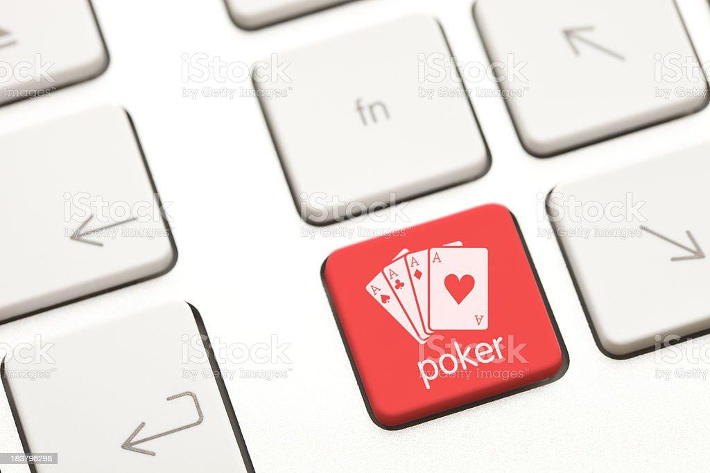 Online poker stock photo