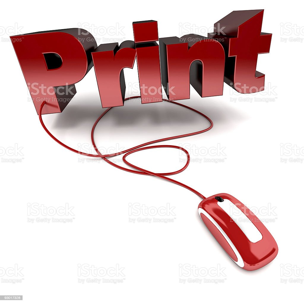 Online print royalty-free stock photo