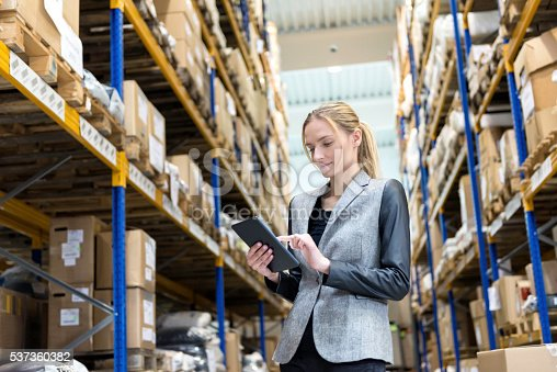 istock On-line processing orders from storage room 537360382
