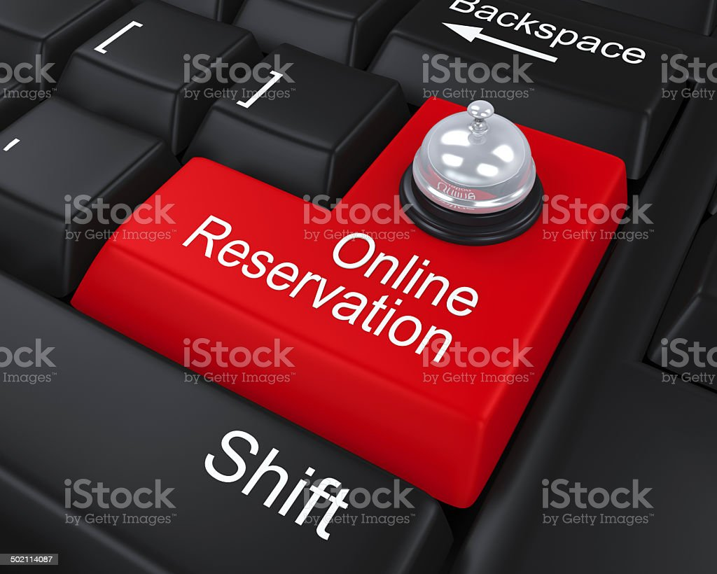 Online Reservation Enter Key royalty-free stock photo
