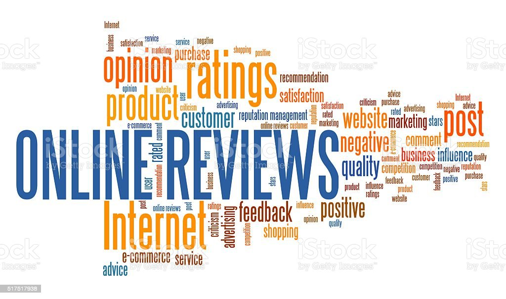 Online reviews stock photo