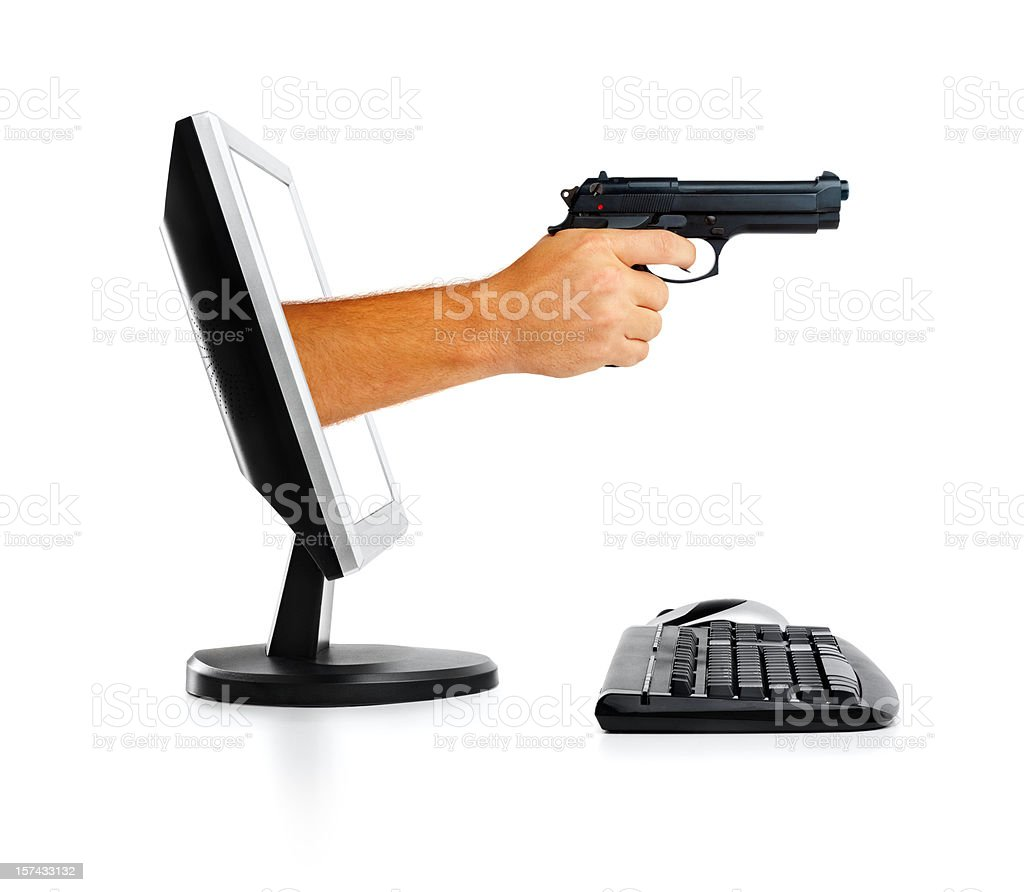 Online Robbery royalty-free stock photo