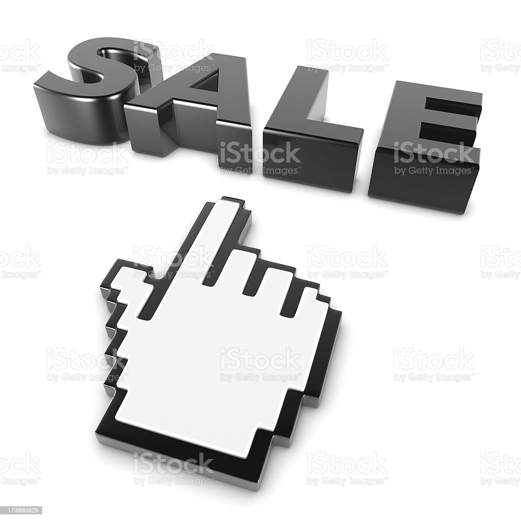 Online Sale royalty-free stock photo