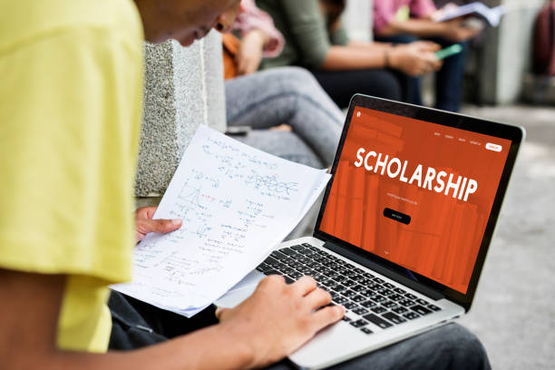 Online scholarship stock photo
