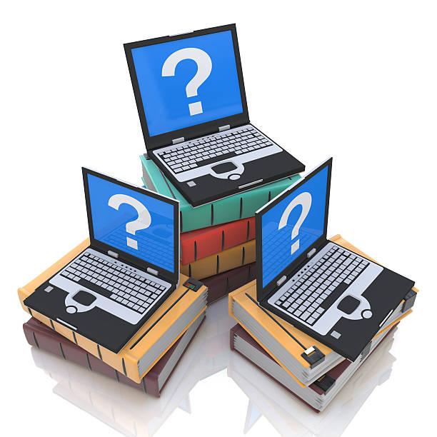 búsqueda de conocimientos en línea - suministros escolares fotografías e imágenes de stock