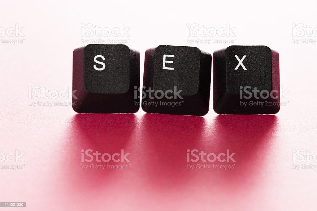 Online SEX stock photo