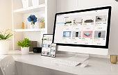 istock online shop website on home office setup 1224339637