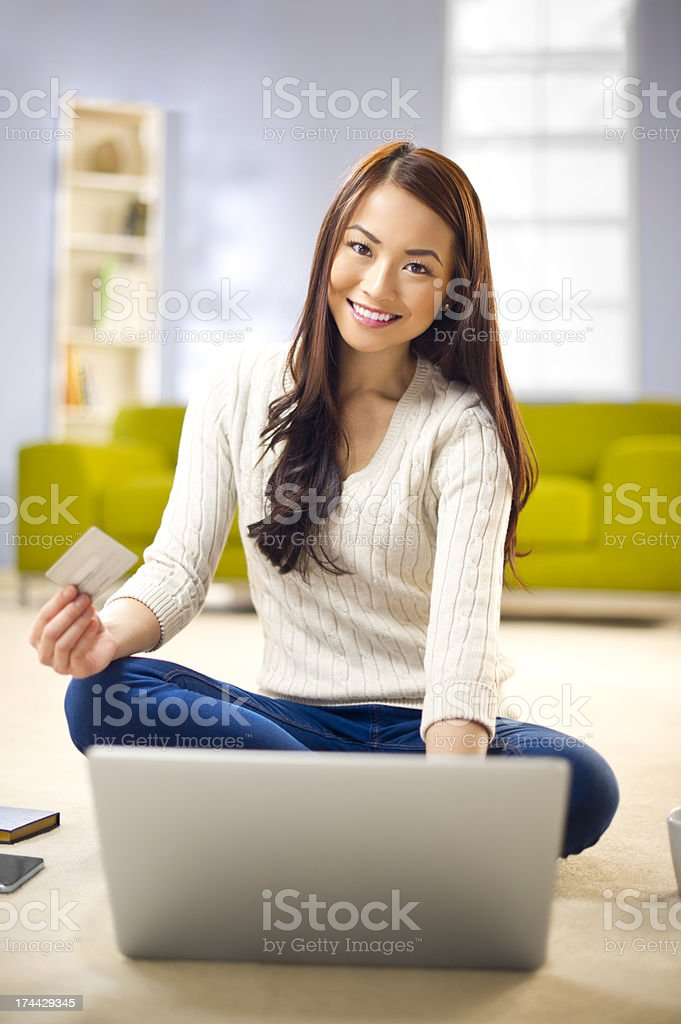 online shopper royalty-free stock photo