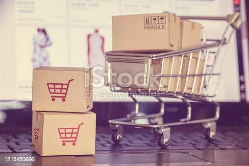 868776578 istock photo Online shopping and e-commerce concept. 1213450696