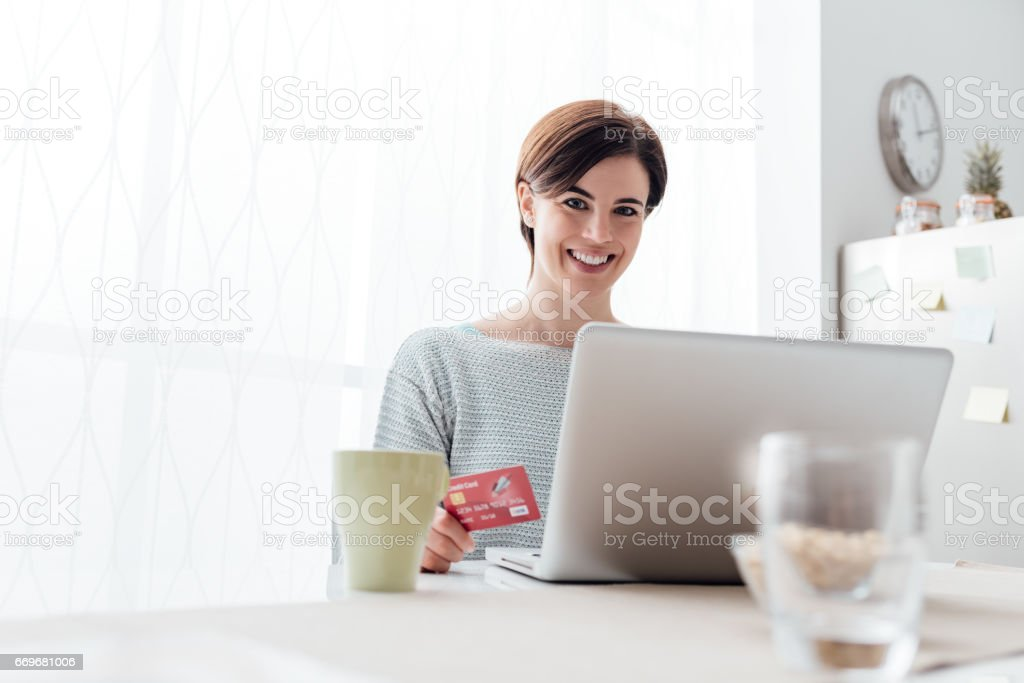 Online shopping at home - Photo