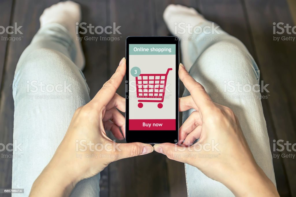 Online shopping at the internet store. E-commerce. royalty-free stock photo