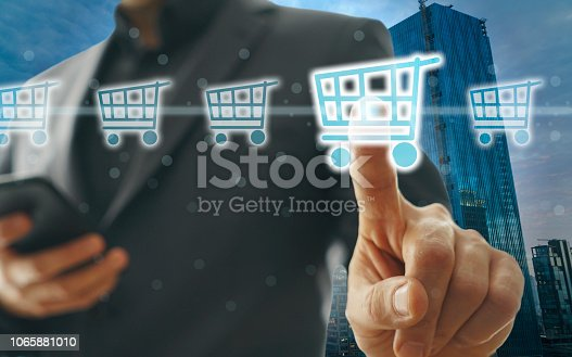 istock Online shopping concept 1065881010