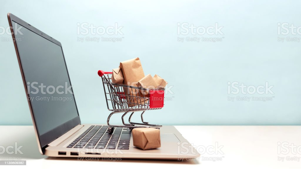 Online shopping concept Online shopping concept Online Shopping Stock Photo