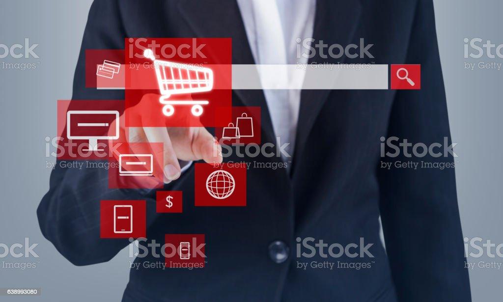 Concetto di shopping Online  - foto stock