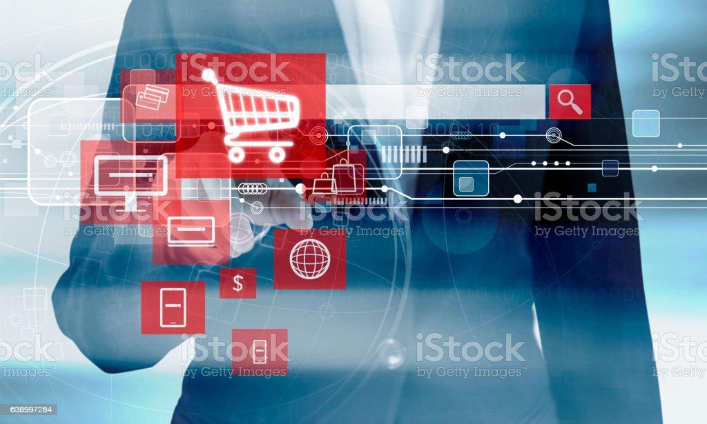 オンラインショッピング概念  ストックフォト