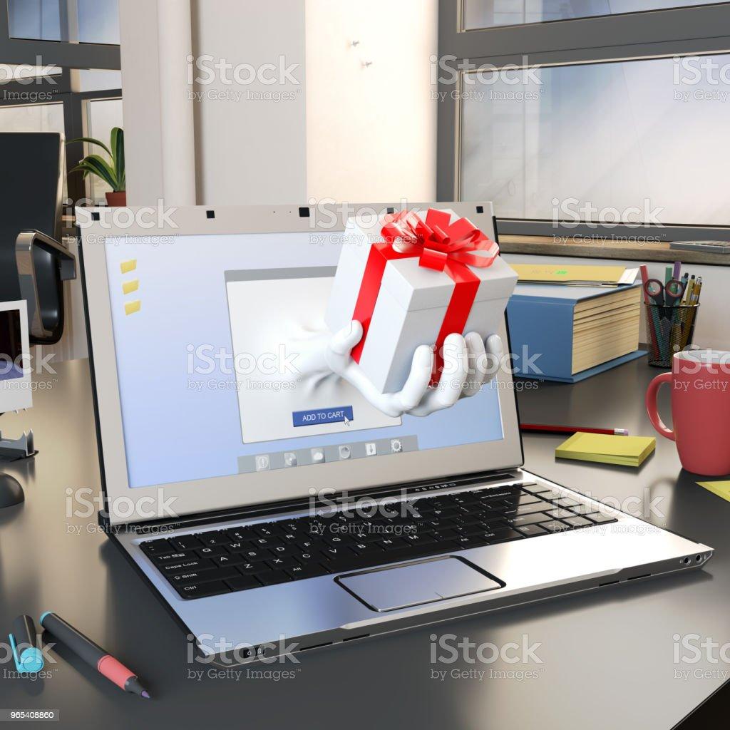 온라인 쇼핑 컨셉입니다 - 로열티 프리 3차원 형태 스톡 사진