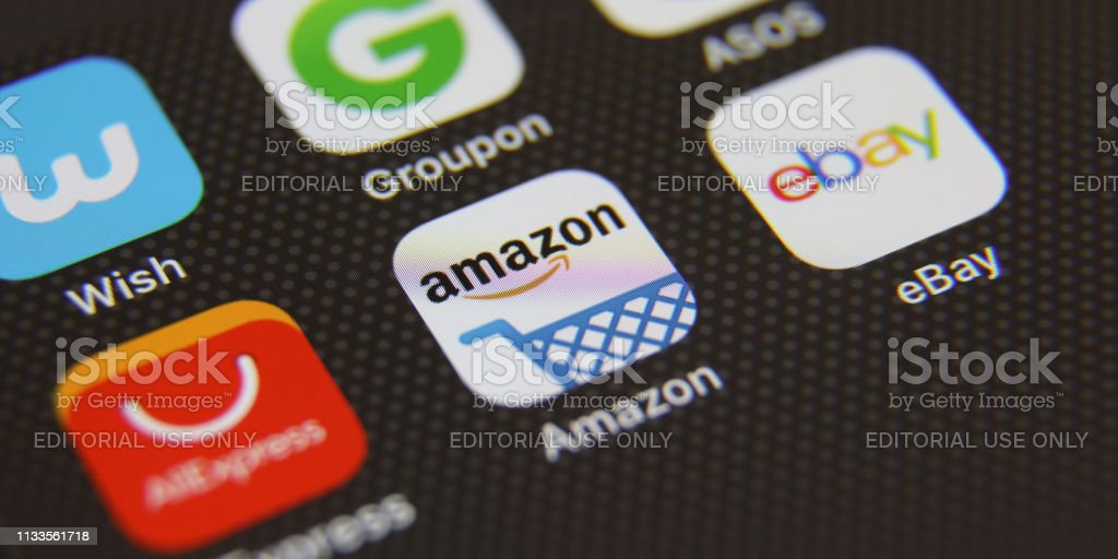 Online Shopping Ecommerce Mobile App Icons Stock Photo Download Image Now Istock