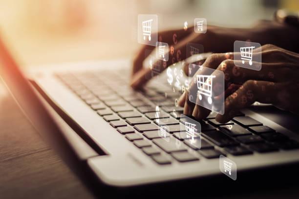 online shopping - commercio elettronico foto e immagini stock