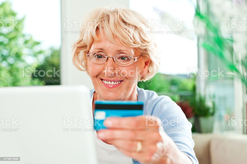 On-line shopping royalty-free stock photo