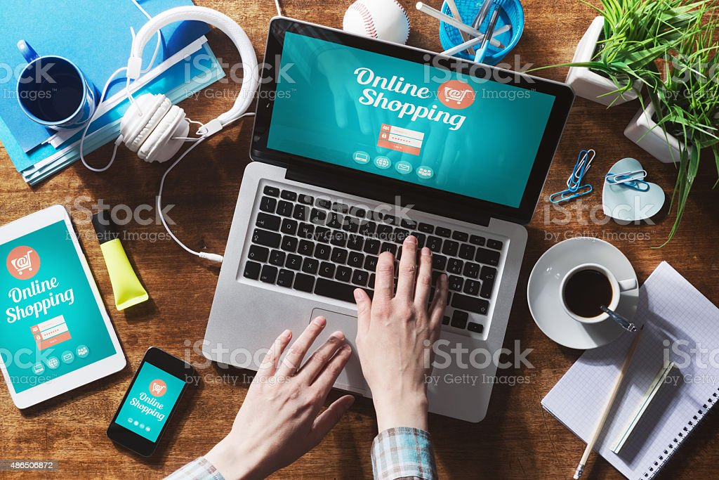 Online shopping - Royalty-free 2015 Stock Photo