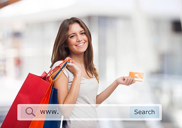 online-shopping - dresses online shop stock-fotos und bilder