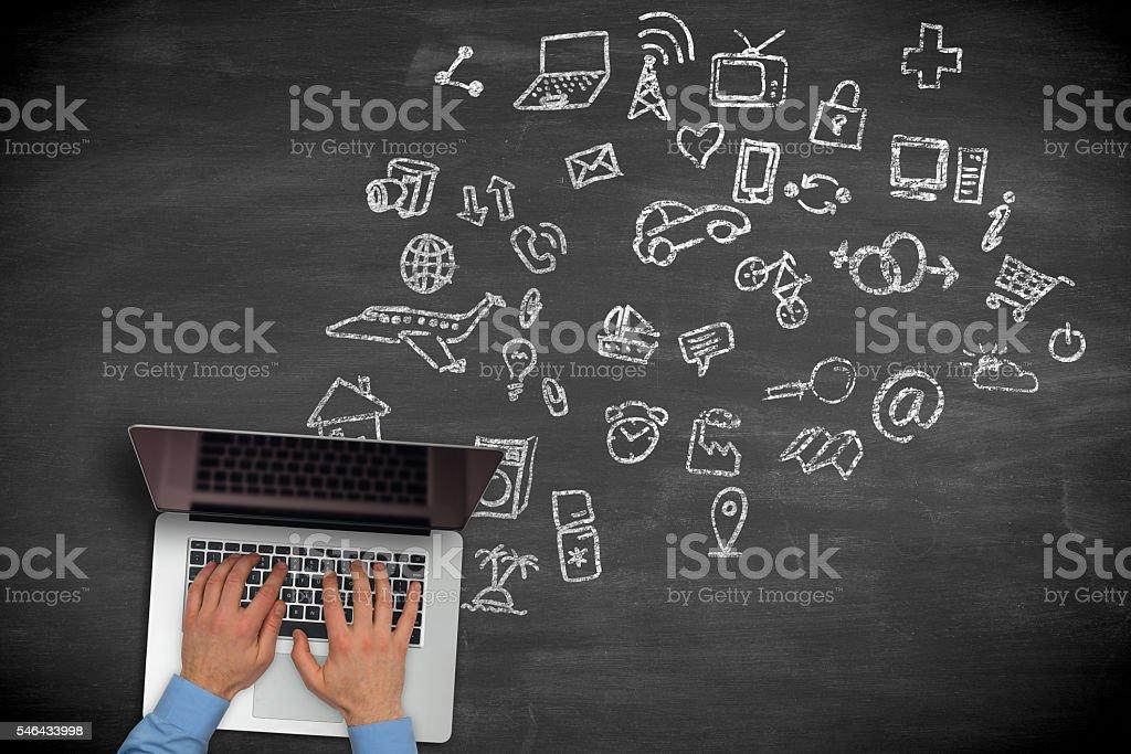 Online shopping stock photo