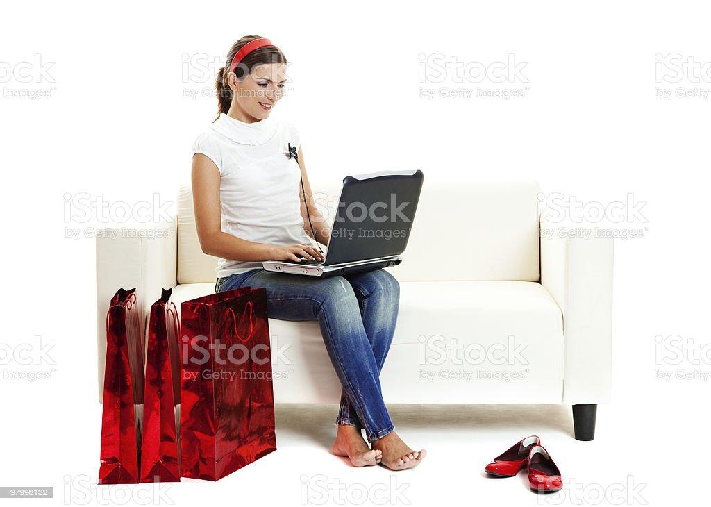 Online shopping royalty free stockfoto