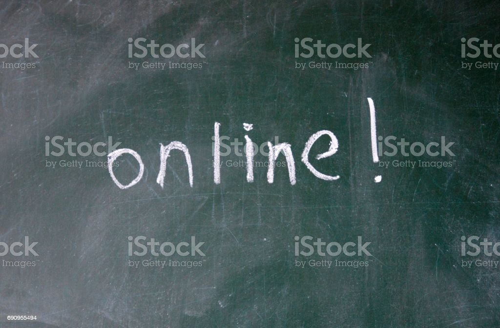online sign stock photo