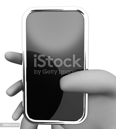 Online Smartphone Indicating World Wide Web And Copy Space 3d Rendering
