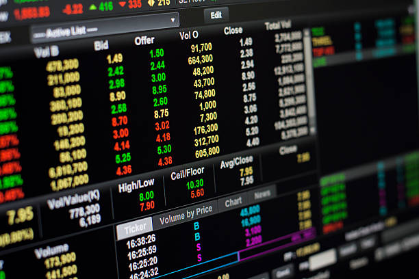 online stock exchange - new york stock exchange stock pictures, royalty-free photos & images
