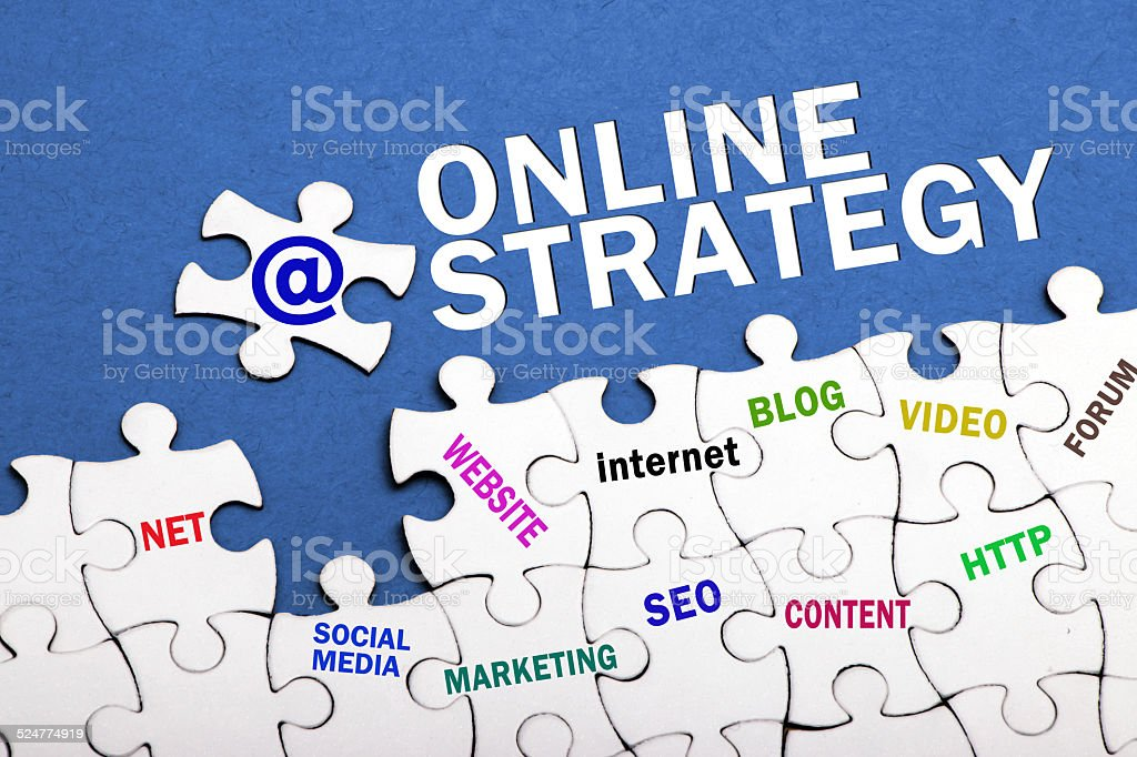 online strategy concept stock photo