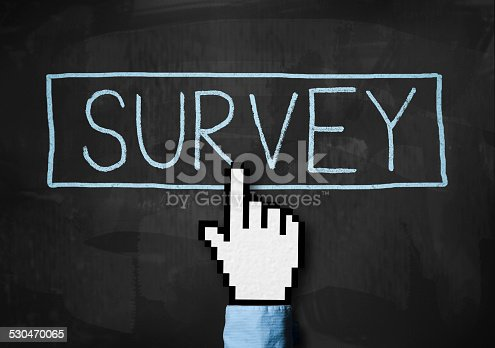 istock Online Survey Concept / Blackboard (Click for more) 530470065