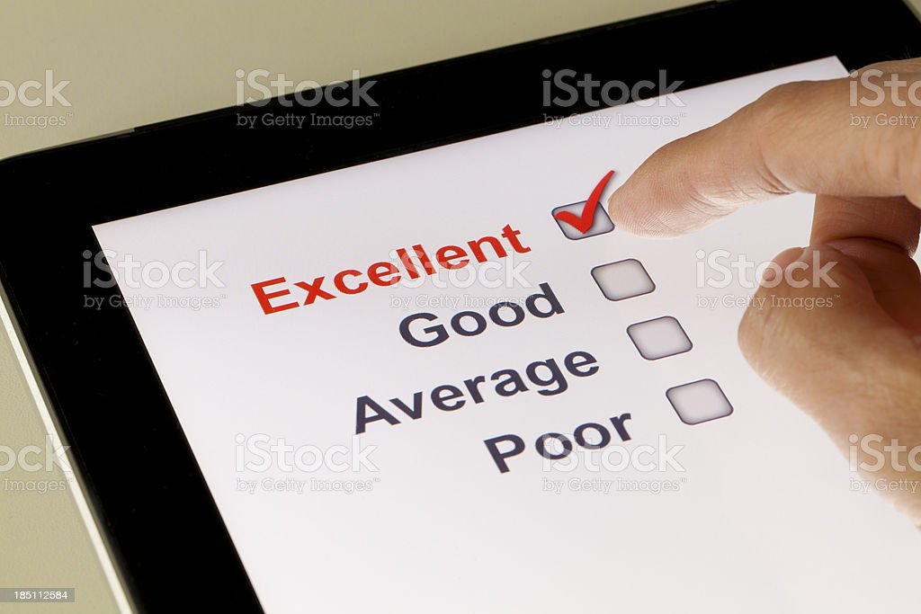 Online survey stock photo