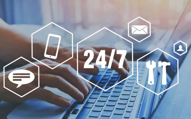 Technischen Online-Support, Kundendienst 24/7. – Foto