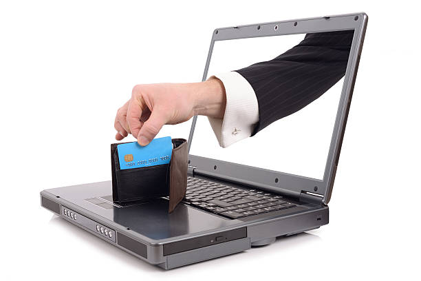 オンラインの窃盗 - id盗難 ストックフォトと画像