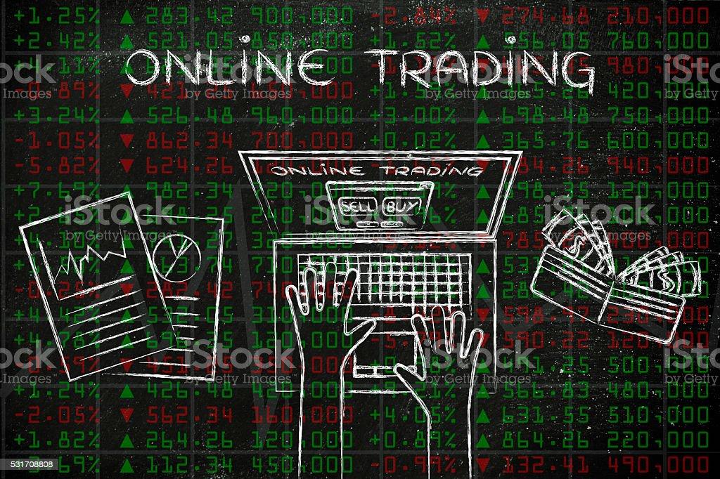 online trading stock photo