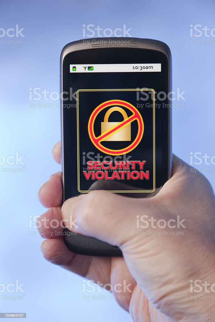 On-Line Transaction - Security Violation royalty-free stock photo