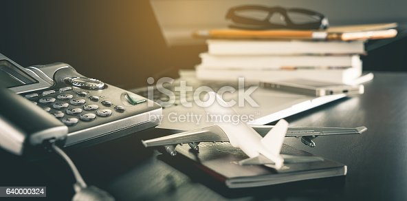 istock online Travel Agency service office  working table 640000324