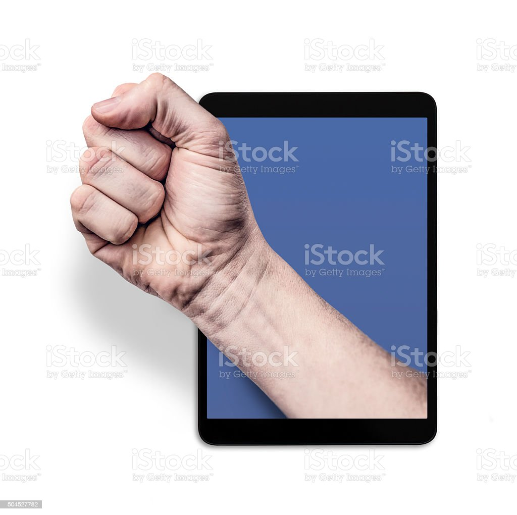 online violence stock photo