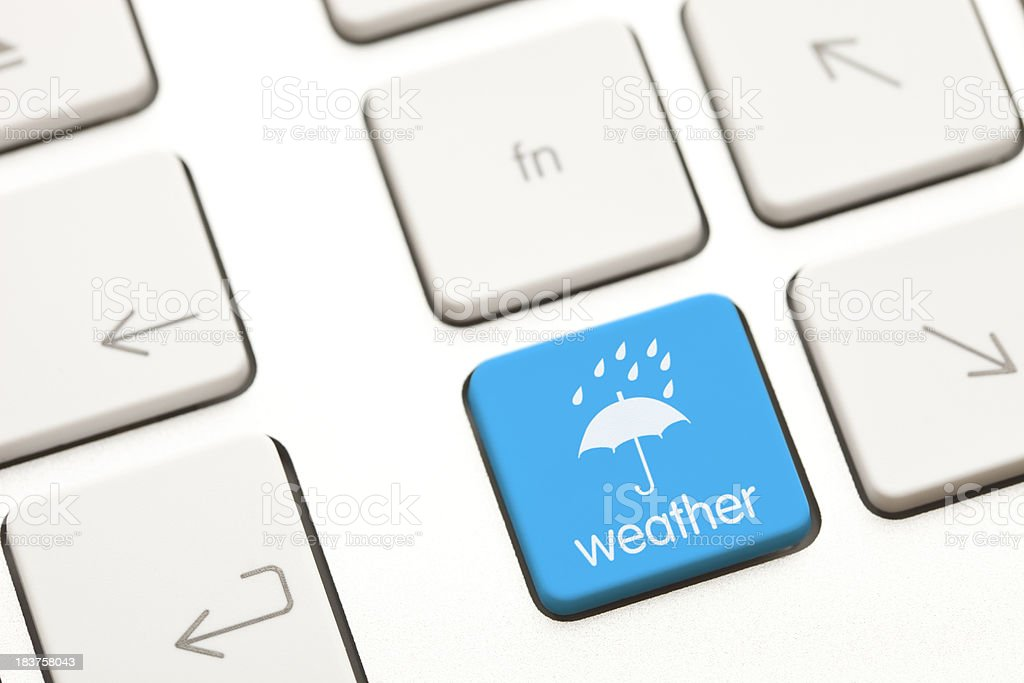 Online weather forecast royalty-free stock photo