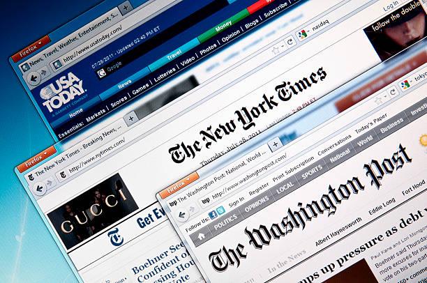 usa online-websites - new york times stock-fotos und bilder