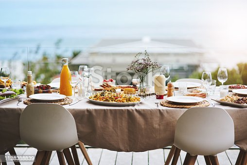 Shot of a beautiful table setting outdoors