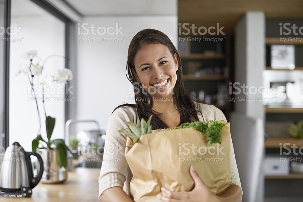 I only buy organic stock photo