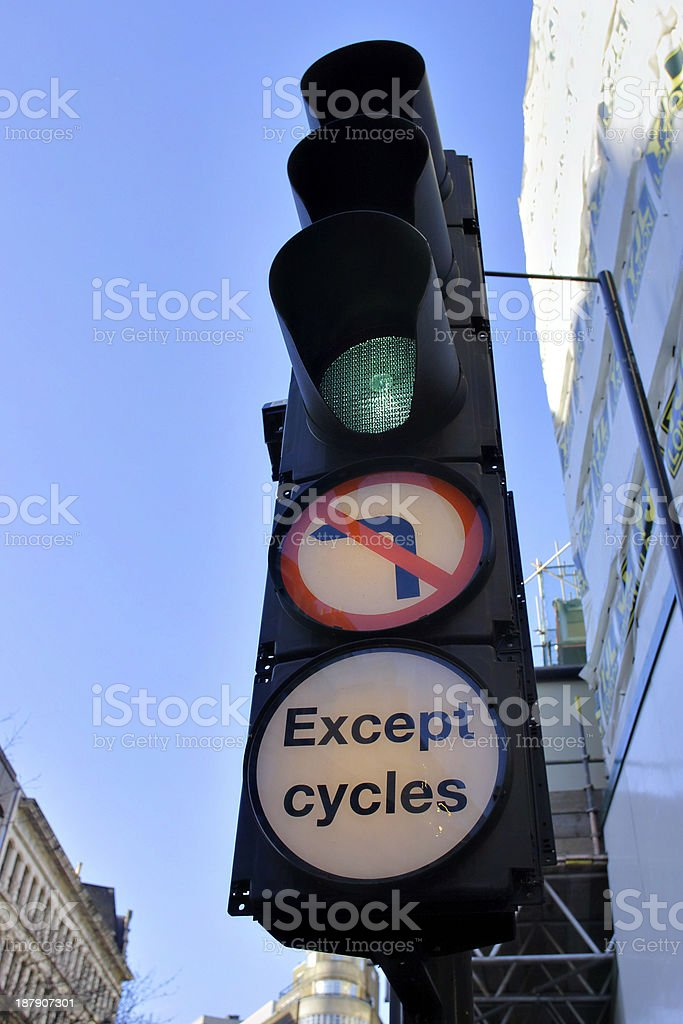 Traffic lights green for go in the city royalty-free stock photo