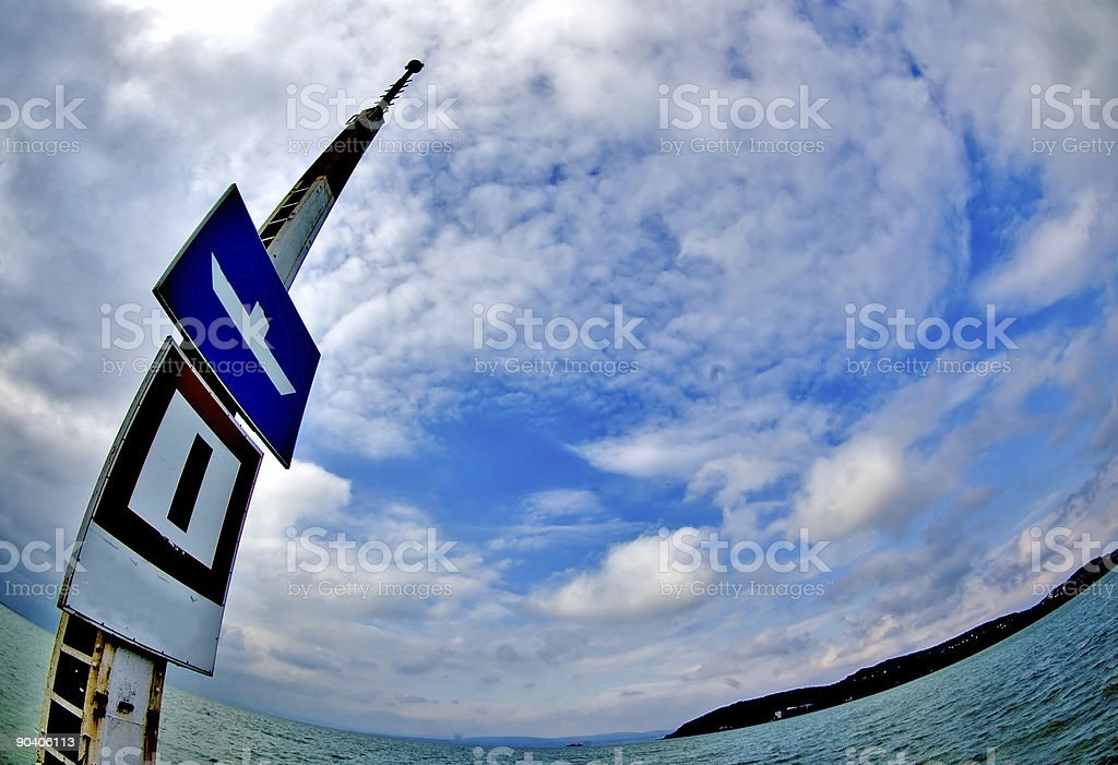 Only for boats stock photo