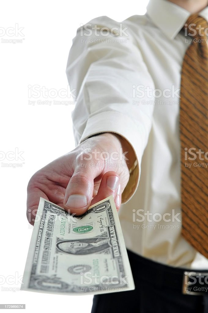 Only one dollar royalty-free stock photo