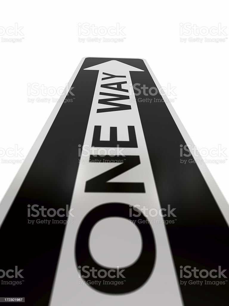 Only One Way royalty-free stock photo