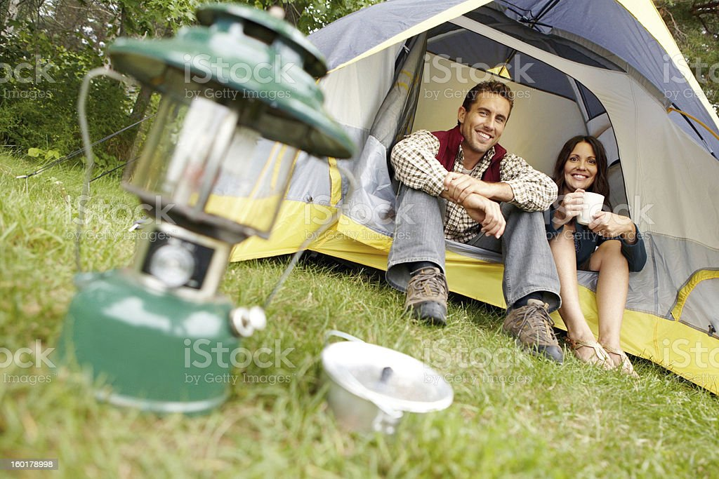Only the essentials are needed - Camping royalty-free stock photo