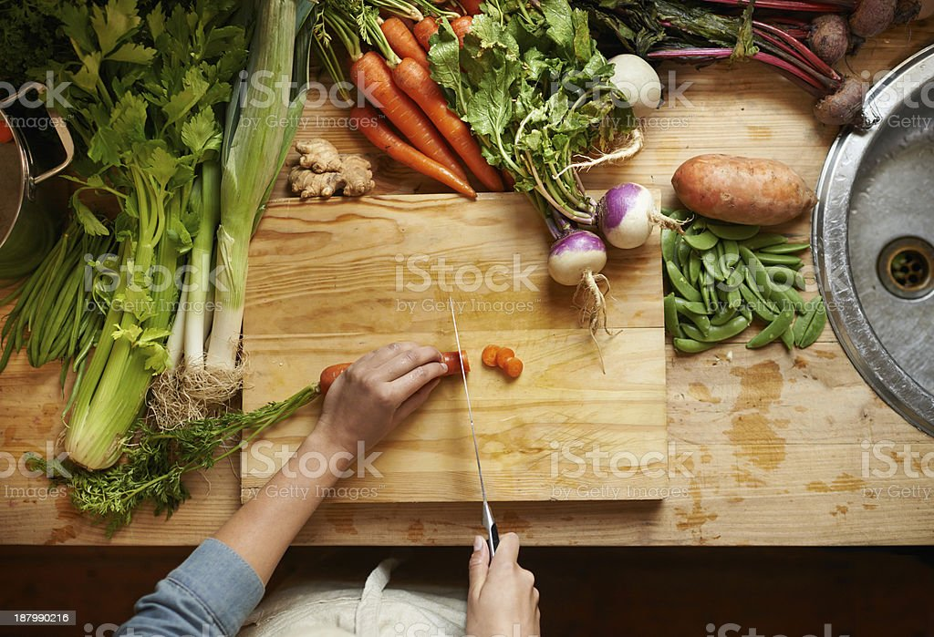 Only the freshest ingredients for this chef stock photo