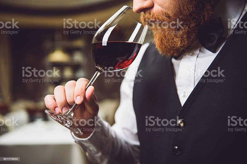 Only truly connoisseur can feel fragrance stock photo